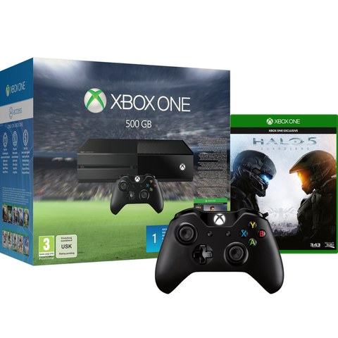 Xbox One 500GB Console - Includes FIFA 16 & Halo 5: Guardians + Extra Wireless Controller