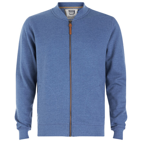 Smith & Jones Men's Brewer Zipped Sweatshirt - True Blue Marl