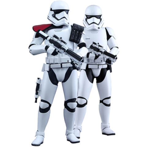 Hot Toys Star Wars 1:6 First Order Stormtrooper Officer and Stormtrooper Twin Set