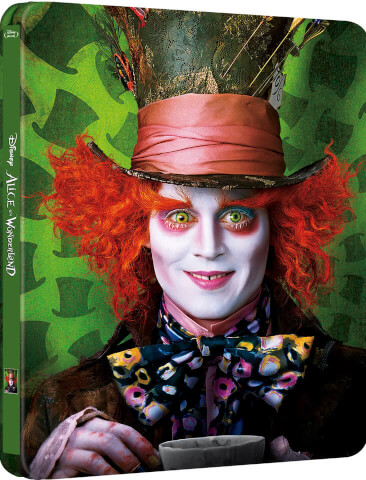 Alice im Wunderland 3D (enthält 2D Version) - Zavvi exklusives (UK Edition) Limited Edition Steelbook