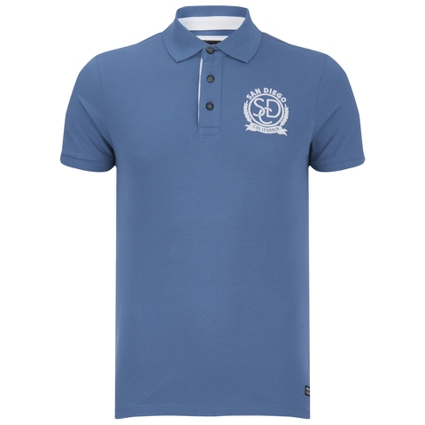 Produkt Men's Embroidered Polo Shirt - Bijou Blue