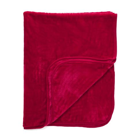 Dreamscene Luxurious Faux Fur Throw - Red