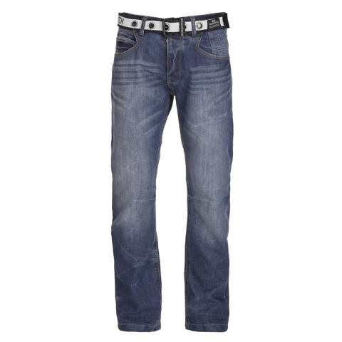 Crosshatch Men's New Baltimore Denim Jeans - Mid Wash