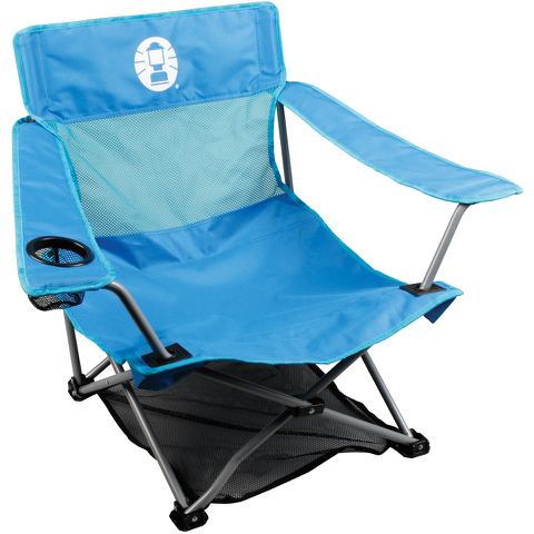 Coleman Low Quad Folding Chair - Blue