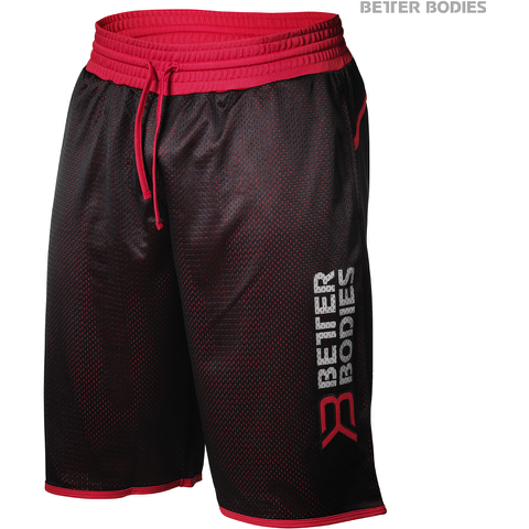 Better Bodies Men's Print Mesh Shorts - Black/Red