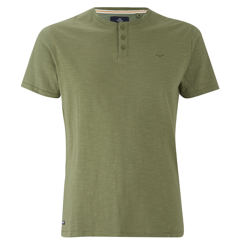 Threadbare Men's Oliver Grandad T-Shirt - Khaki
