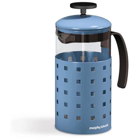 Morphy Richards 974654 8 Cup Cafetiere - Cornflower Blue - 1000ml