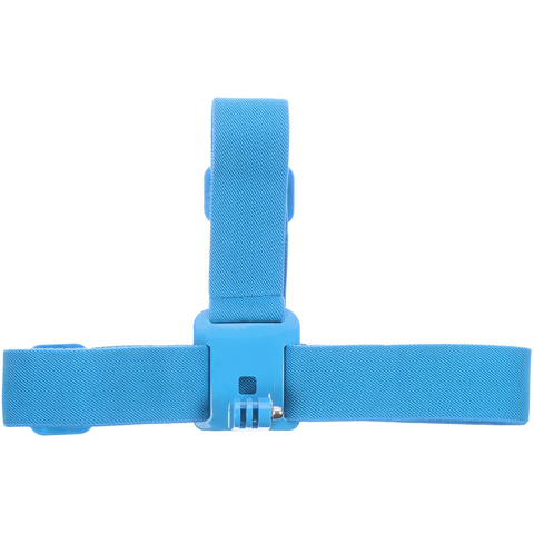 Kitvision Head Strap Mount for Action Cameras (GoPro, Kitvision: Edge H10, Splash, Esc 5 & Esc 5W) - Blue