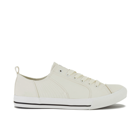 Crosshatch Men's Kashvault Suedette Trainers - White