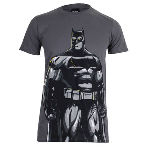 DC Comics Batman v Superman Batman Heren T-Shirt - Charcoal