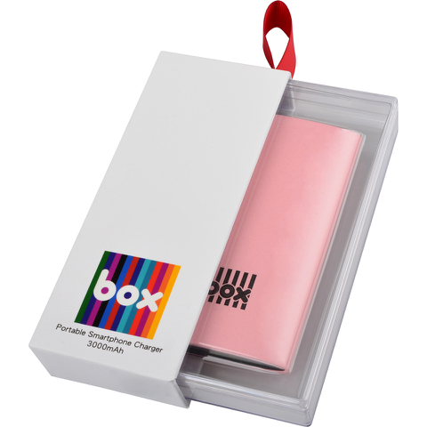 BOX Lithium Polymer Smartphone Charger - Pink (3000mAh)