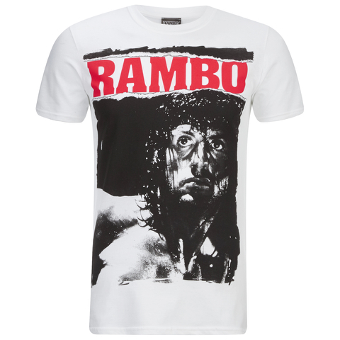 Rambo Stare Heren T-Shirt - Wit