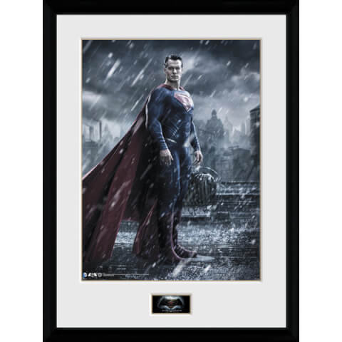 DC Comics Batman v Superman Dawn of Justice Superman - 16 x 12 Inches Framed Photographic