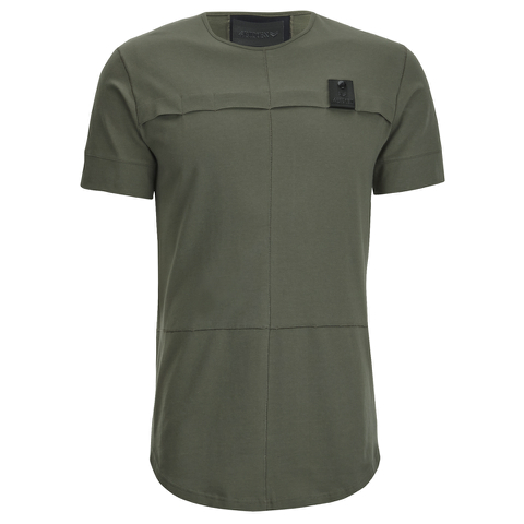 4Bidden Men's Longline Aim T-Shirt - Khaki