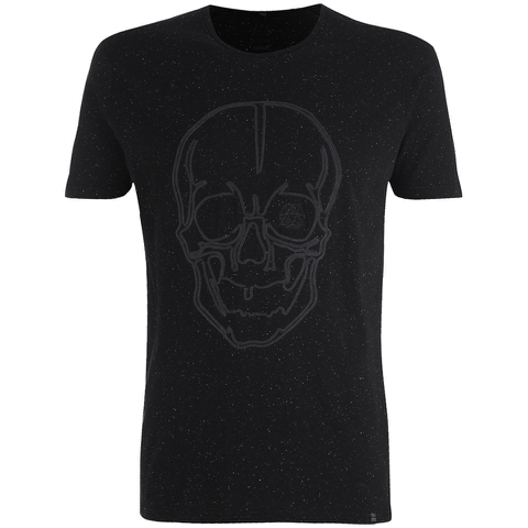 Smith & Jones Men's Diastyle Skull T-Shirt - Black Nep