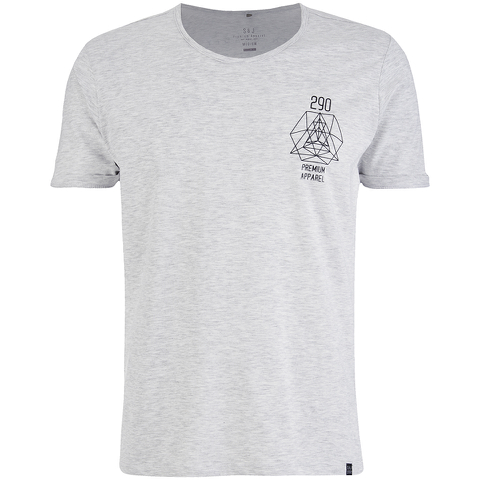 Smith & Jones Men's Maqsurah Back Print T-Shirt - Light Grey Marl