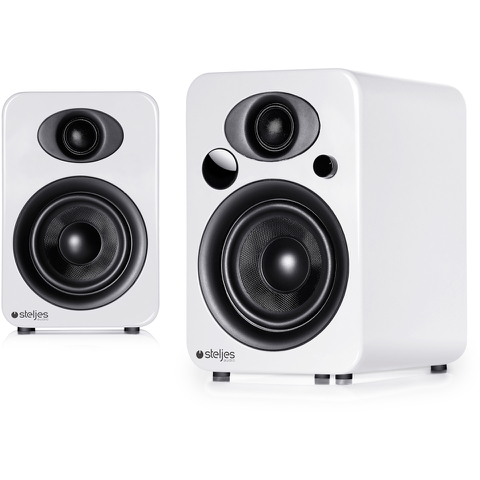 Steljes Audio NS3 Bluetooth Duo Speakers - Frost White