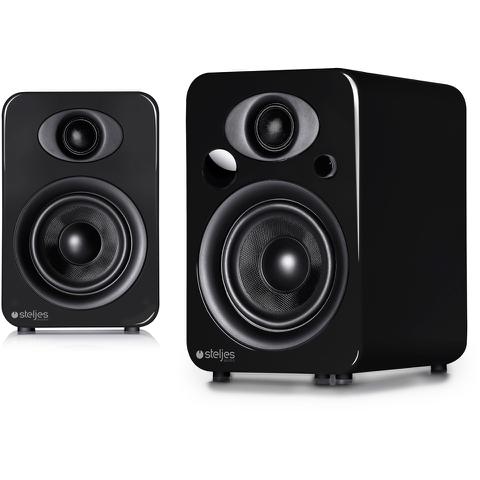Steljes Audio NS3 Bluetooth Duo Speakers - Gun Metal Grey