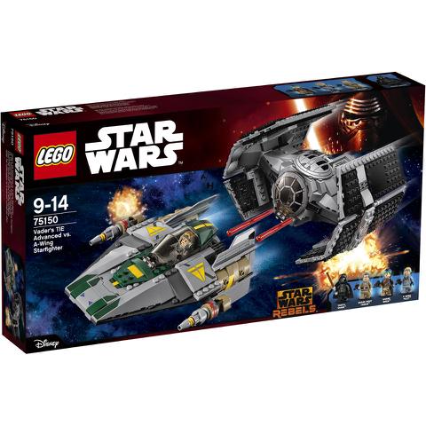 LEGO Star Wars: Darth Vaders TIE Advanced tegen de A-Wing Starfighter (75150)