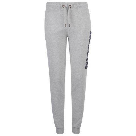 Soul Cal Men's Large Logo Cuffed Sweatpants - Grey Marl