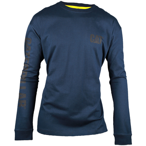 Caterpillar Men's Trademark Long Sleeve T-Shirt - Blue