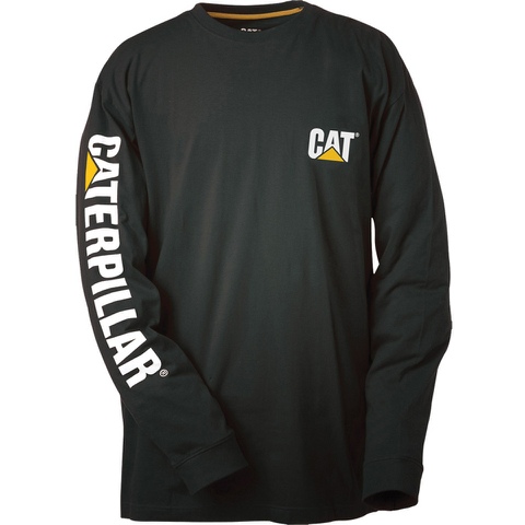 Caterpillar Men's Trademark Long Sleeve T-Shirt - Black