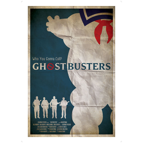 Ghostbusters Inspired Illustrative Art Print - 11.7 x 16.5 Inches