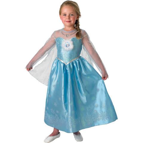 Disney Frozen Girls' Deluxe Elsa Fancy Dress