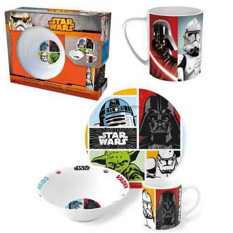 Star Wars Breakfast Mug, Bowl and Plate Set - Multi (3 Piece)