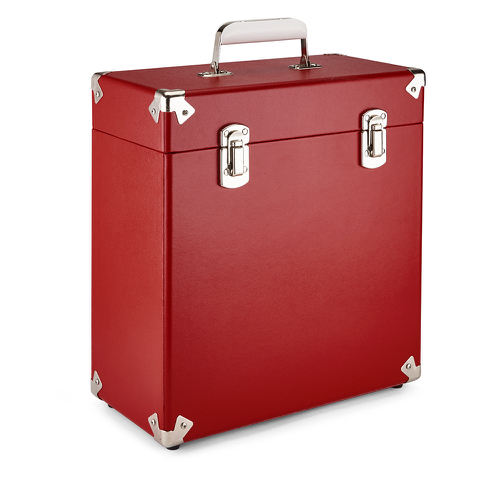 GPO Retro Portable Carry Case for LP Records and 12-Inch Vinyl - Red