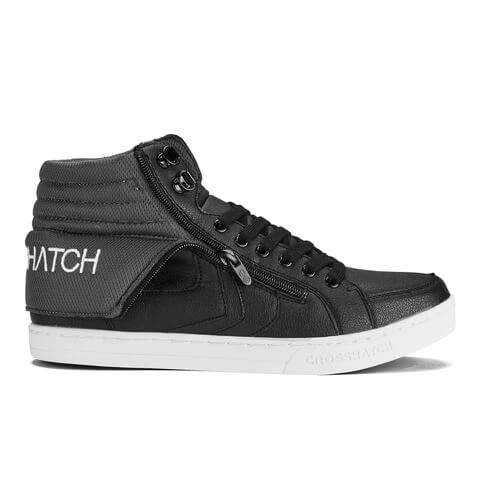 Crosshatch Men's Tioman PU Roll Down Trainers - Black