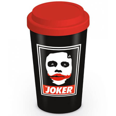 Batman Arkham Knight Obey The Joker Ceramic Travel Mug - Black