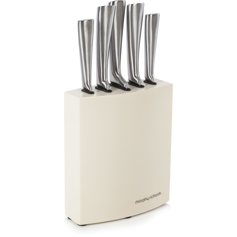 Morphy Richards 974816 Accents 5 Piece Knife - Cream
