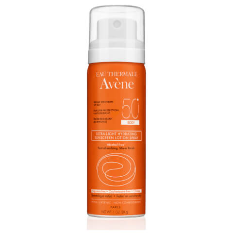 Avène Ultra-Light Hydrating Sunscreen Lotion Spray Body SPF50 1fl. oz