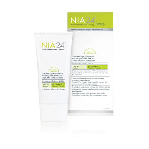 NIA24 Sun Damage Prevention Broad Spectrum SPF 30 100% Mineral Sunscreen