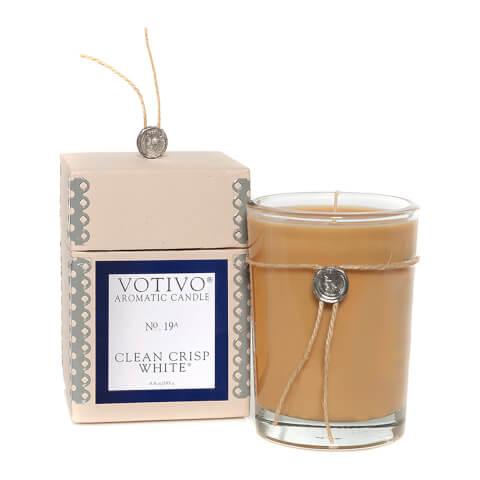 Votivo Aromatic Candle Clean Crisp White