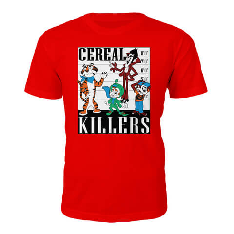 Tee Junkie Men's Cereal Killers T-Shirt - Red