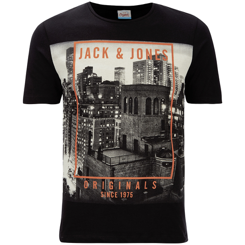 Jack & Jones Herren Originals Coffer T-Shirt - Schwarz