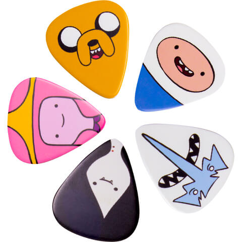 Adventure Time Character Guitar Plectrums (Set of 5)