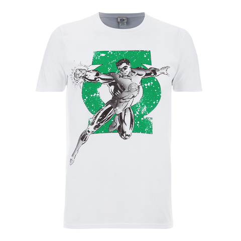 DC Comics Men's Green Arrow Punch T-Shirt - White