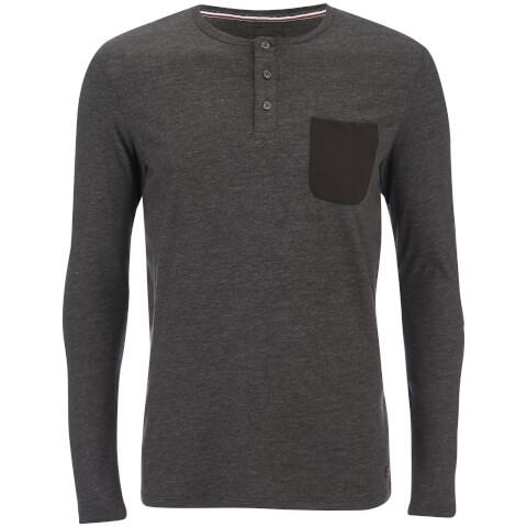 Produkt Men's Contrast Pocket Long Sleeve Top - Black Melange