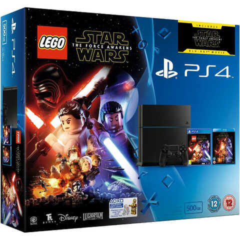 Sony PlayStation 4 500GB - Includes LEGO Star Wars: The Force Awakens & Star Wars: The Force Awakens Blu-ray