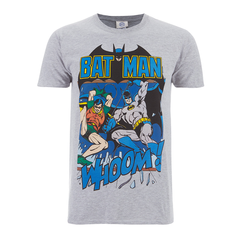 DC Comics Batman and Robin Heren T-Shirt - Grijs