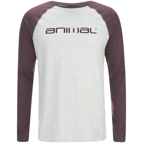 Camiseta manga larga Animal Action - Hombre - Gris claro