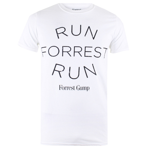 Forrest Gump Run Forrest Heren T-Shirt - Wit