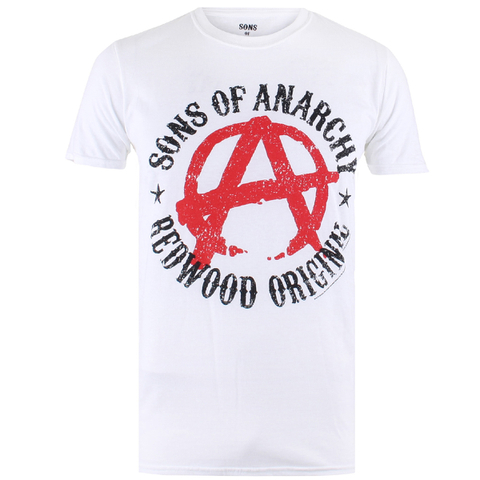 Sons of Anarchy Mens Anarchy T-Shirt - Wit