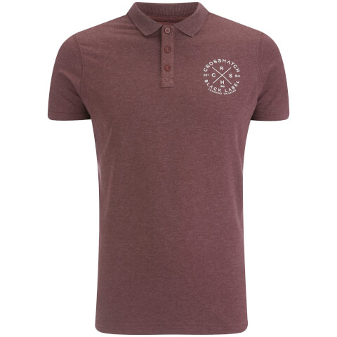 Crosshatch Men's Cultize Stamp Polo Shirt - Deep Red Marl