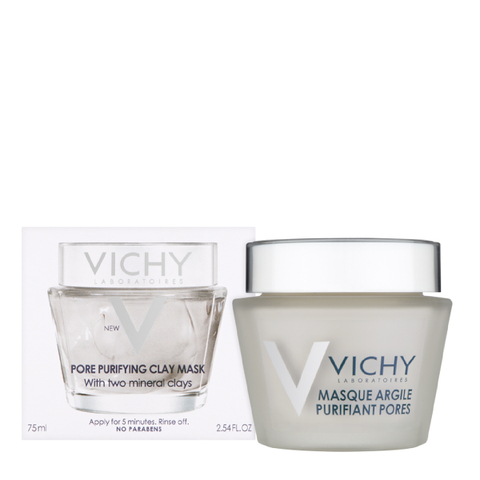 Vichy Mineral Pore Purifying Facial Clay Mask, 2.54 Fl. Oz.