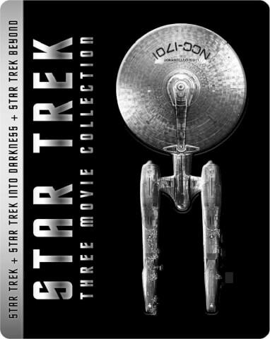 Star Trek/Star Trek Darkness (3D)/Star Trek : Sans limites (3D) - Steelbook Exclusif pour Zavvi