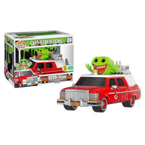 Ghostbusters ECTO-1 & Slimer Pop! Ride & Vinyl Figure SDCC 2016 EXC